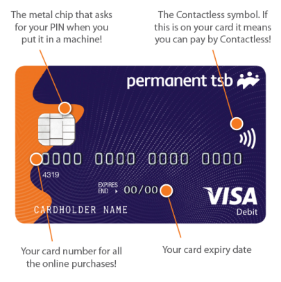permanent tsb contactless card current account